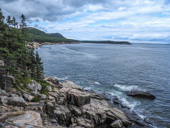 Travel Trip Photo: View along Ocean Path Trail from Otter Point to Sand Beach, Acadia National Park, Mount Desert Island, Maine