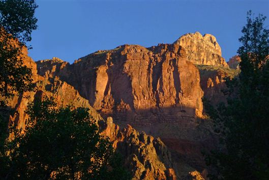 Grand Canyon Hike Photo: South rim from Bright Angel campground at Phantom Ranch