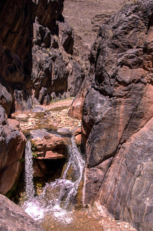 Travel Trip Photo: Waterfall in lower Clear Creek, north rim of Grand Canyon, Grand Canyon National Park, Arizona