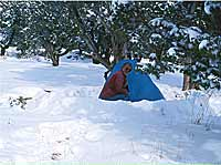Grand Canyon Hike Photo: Desert View Campground - Brian digs in at Camp
