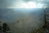 Grand Canyon Hike Photo: Inner canyon through the clouds from Grandview Point