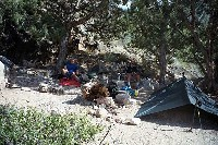 Grand Canyon Hike Photo: Campsite at Cottonwood Creek, below Horseshoe Mesa