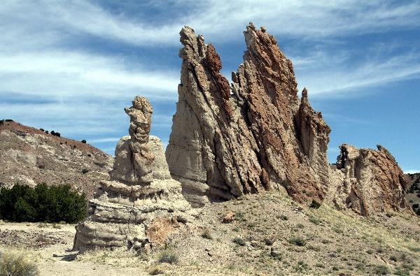 Travel Trip Photo: Volcanic tuff formations, Georgia O'Keefe's white place, near Abiquiu, NM