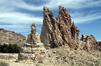 Travel Trip: Volcanic tuff formations, Georgia O'Keefe's white place, Abiquiu, New Mexico