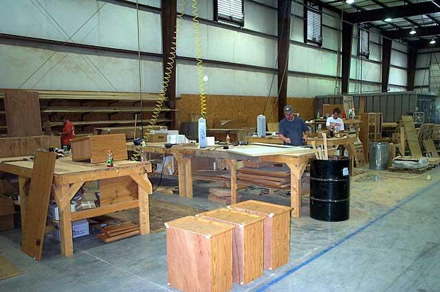 RV Trip Photo: 2003 Trailblazers Jubilee/Trailmanor Factory Tour: Cabinet  Shop ...