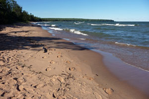 Travel Trip: Beach on Lake Superior, Apostle Islands National Lakeshore, Bayfield, Wisconsin