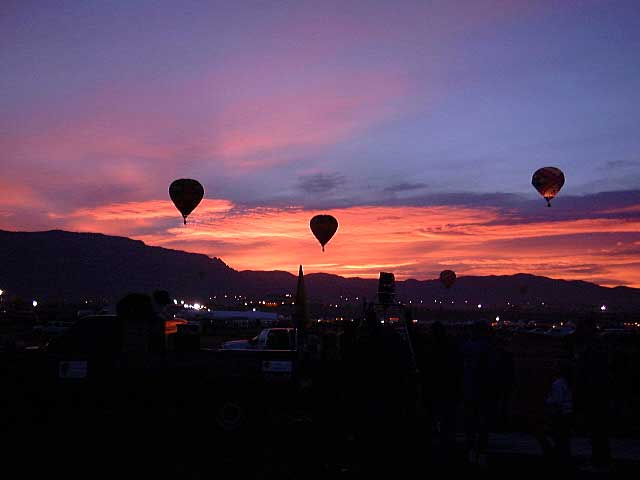 New Mexico Rv Trip: 2002 International Hot Air Balloon Fiesta-Dawn Patrol