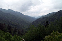 RV trip photo: Great Smoky Mountains National Park - Scenic view along Newfound Gap road