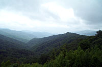 RV trip photo: Great Smoky Mountains National Park - Scenic view from Newfound Gap road