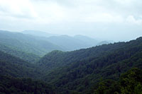 RV trip photo: Great Smoky Mountains National Park - Scenic view Newfound Gap road