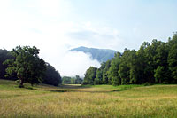 RV trip photo: Great Smoky Mountains National Park - Morning mist at Cades Cove