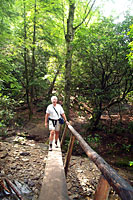 RV trip photo: Great Smoky Mountains National Park - Doug on Abrams Falls trail, Cades Cove