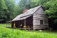 RV trip photo: Great Smoky Mountains National Park - Old settlers' cabin along Roaring Fork nature trail